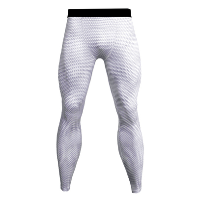 white youth compression pants for workouts
