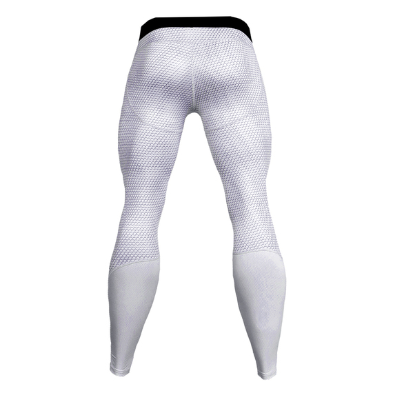 mens white compression pants for running