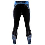 mens sports leggings blue