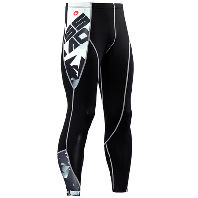 mens workout compression pants black
