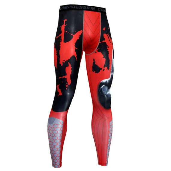 mens red compression pants for workouts