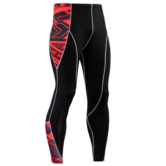 black red compression pants for mens
