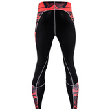red and black compression pants