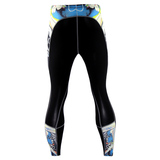blue recovery compression tights mens