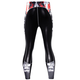 best compression pants for running skull pattern