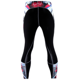 compression workout pants red
