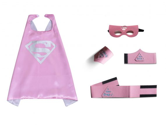 superman cape pink