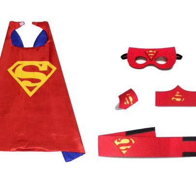 red superman superhero capes party favors