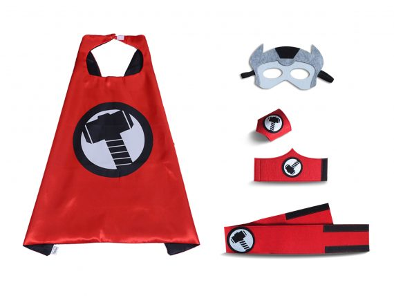 thor cape mask set for kids