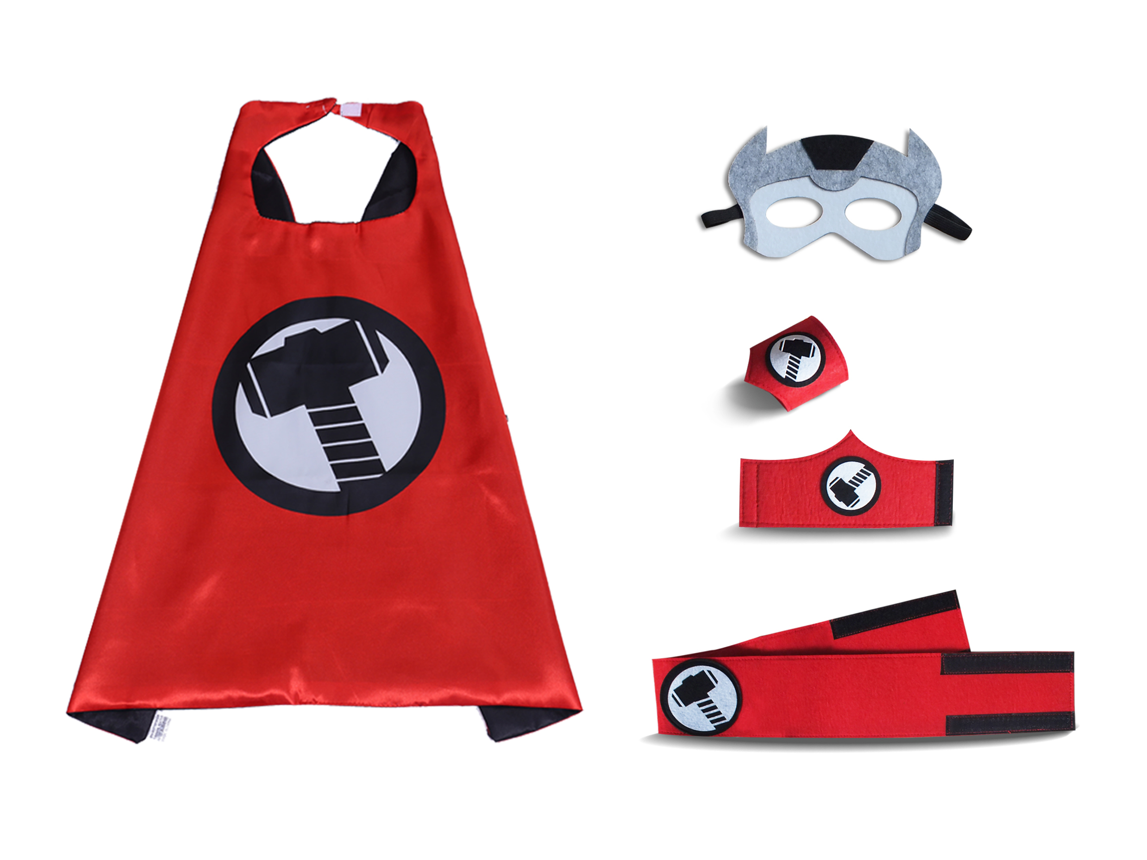 thor cape and mask set for children