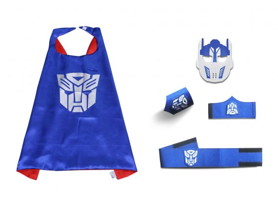 kids transformer cape and mask sets