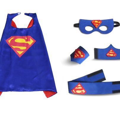 blue superman cape for kids