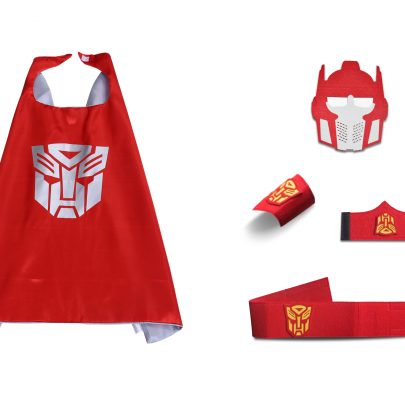Transformers superhero cape and mask for kid Red