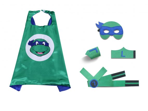 ninja turtle cape and mask green blue