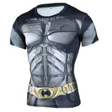 batman short sleeve compression shirt for man