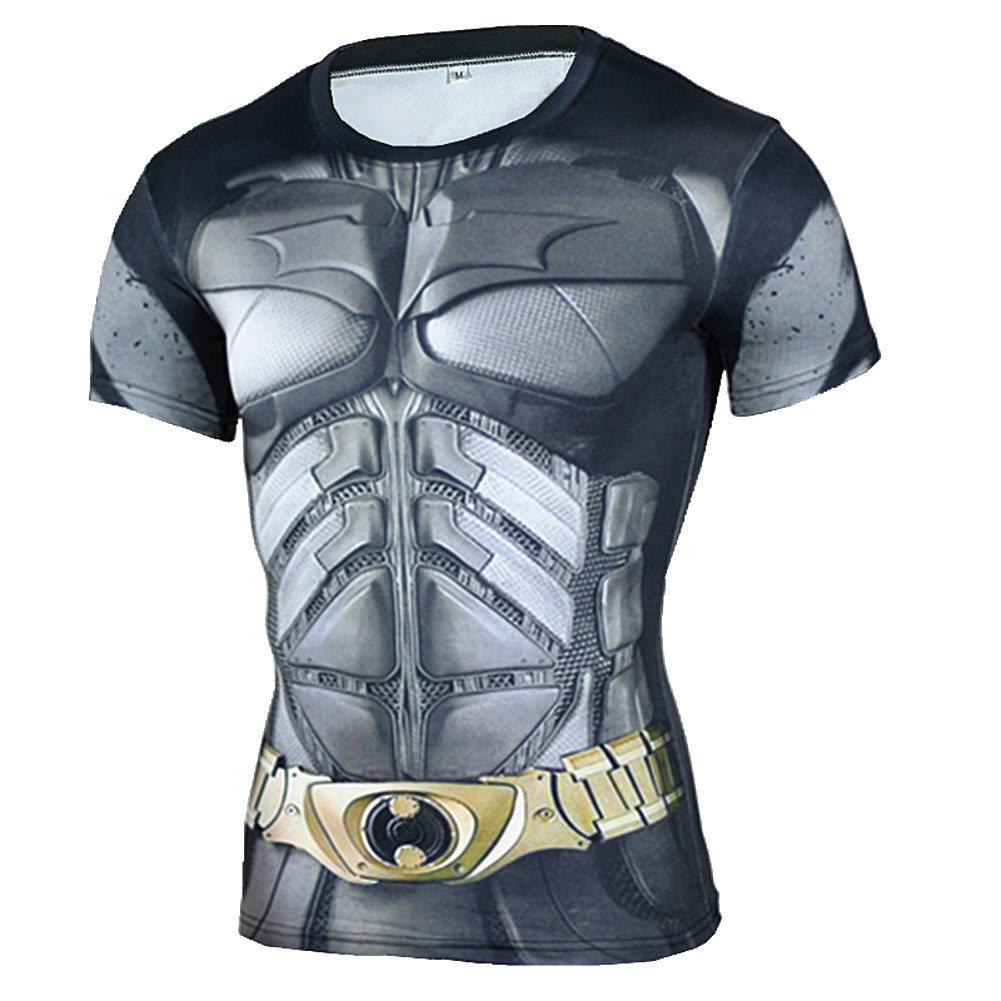 Mens Short Sleeve Batman Compression Shirt
