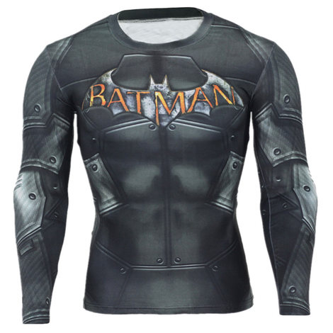 batman workout shirt long sleeve