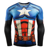 dri fit captain america compression shirt long sleeve