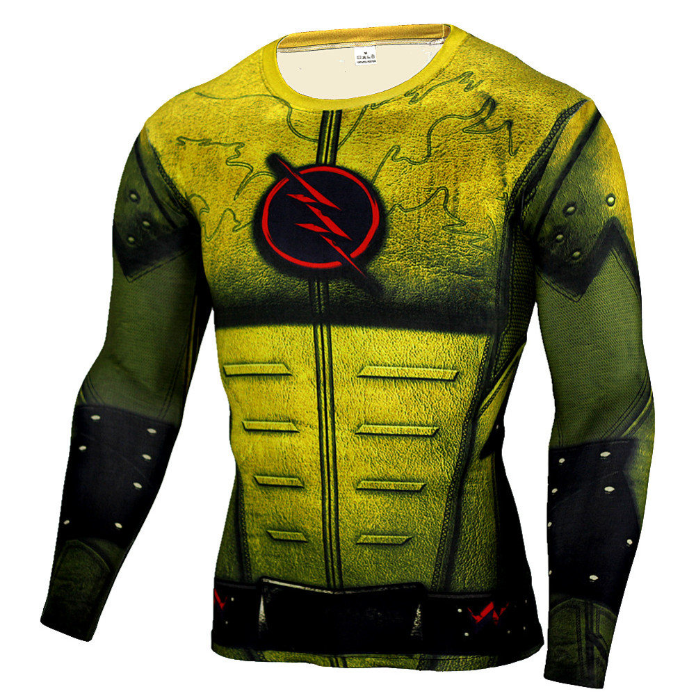 Flash Workout shirt Long Sleeve Compression Running Tee