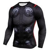 thor compression shirt long sleeve dri fit gym shirt for man
