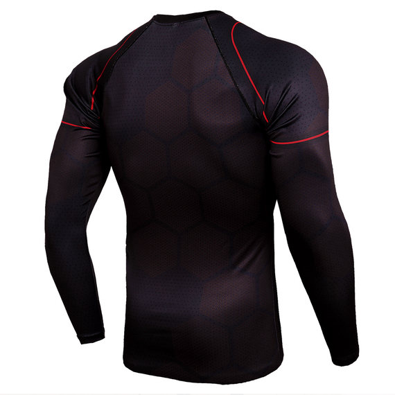 iron man sublimated athletic costume t-shirt long sleeve quick dir gym shirt for man