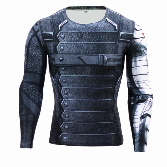 winter soldier workout shirt long sleeve compression shirt for man