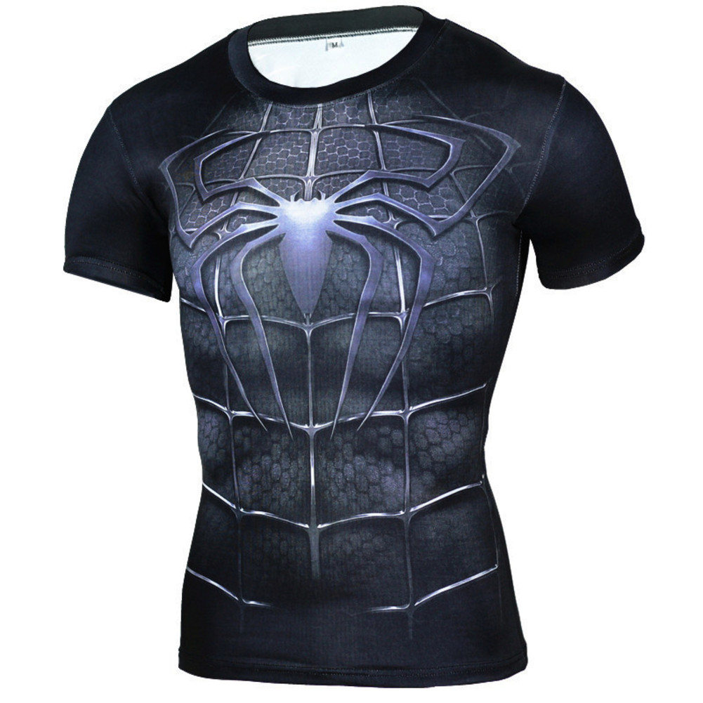 Spiderman Short Sleeve Compression Shirt