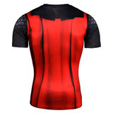 short sleeve thor compression shirt for mens running shirt