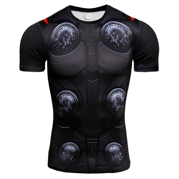 dri fit superhero compression shirt thor workouts shirt for mens