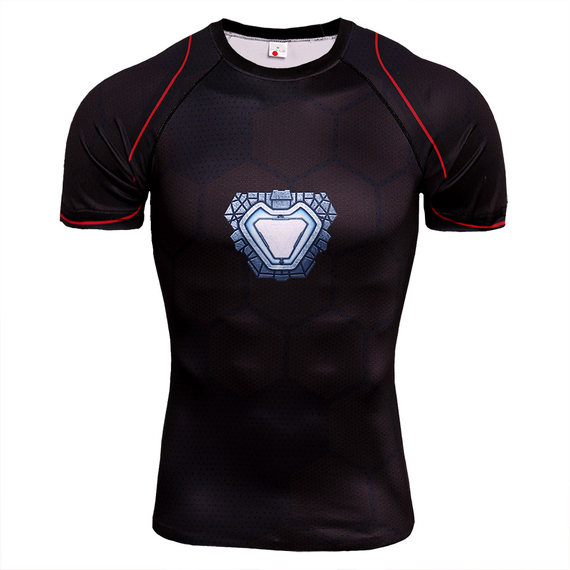 infinity war ironman compression shirt shirt short running shirt