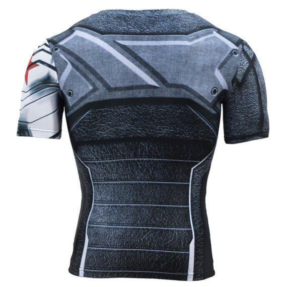 mens short sleeve winter soldier compression shirt for workouts
