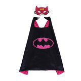 kids party favor batman cape and mask set for halloween costume,cosplay,Masquerade - doble layer,Rose