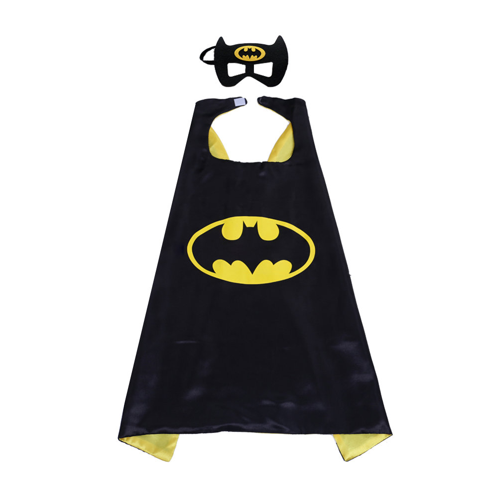 Superhero Batman Capes And Mask Set For Children