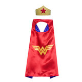 Wonder Woman cape for girls cosplay costume party favor,double layer,red