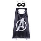 avenger superheroes cape and mask for kids,double layer,black