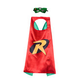 robin cape costume for child,double layer,Red