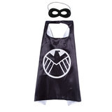 Marvel Legends Captain America Shield Superhero cape and mask set for children,double layer,Black