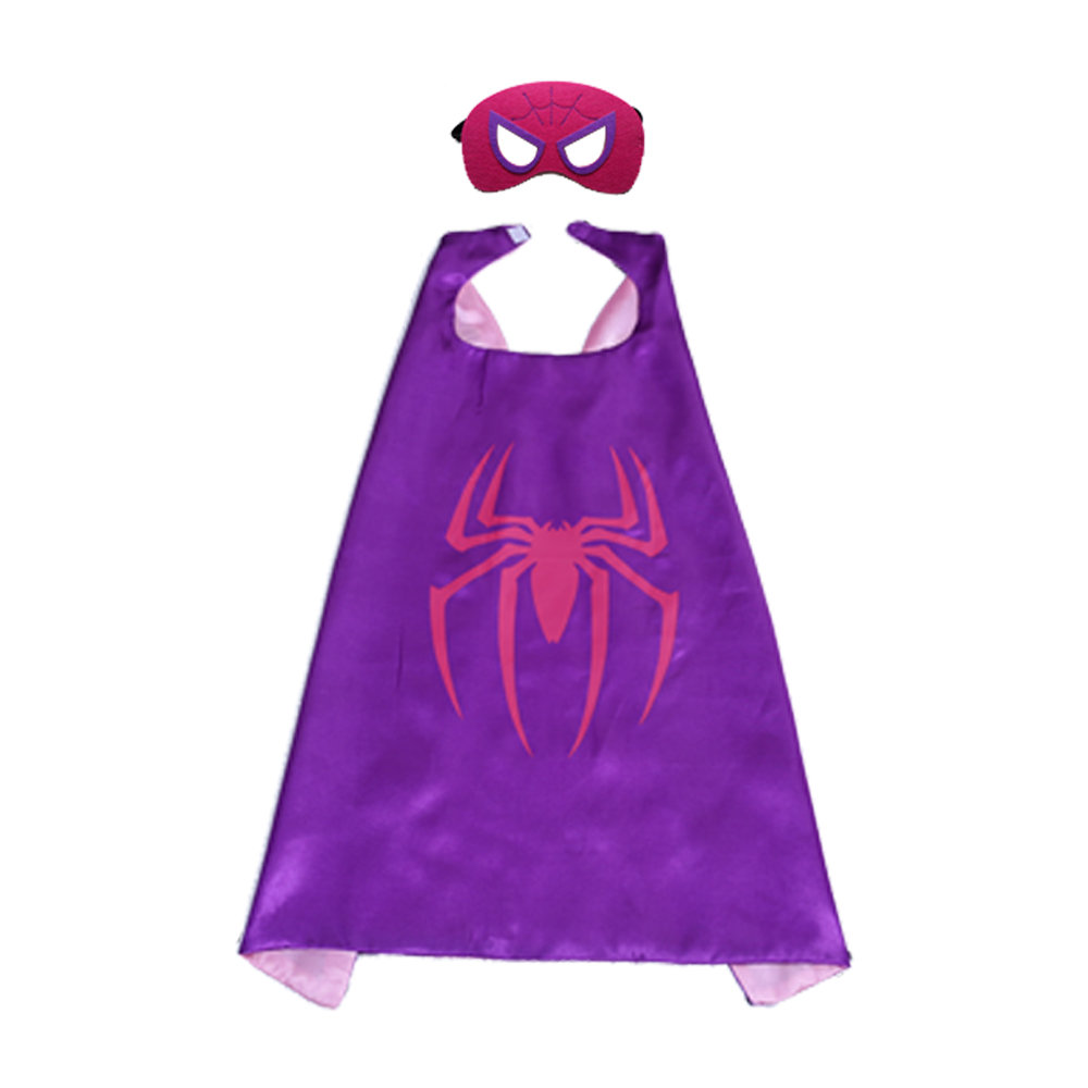Spiderman Superhero Costume Cape and Mask Set For Kids