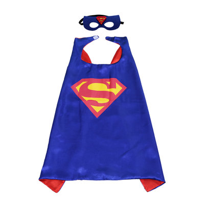 Superman cape and mask for kids,double layer,Blue