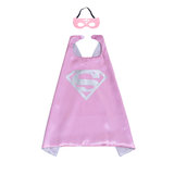 Superman cape and felt mask set for little girls,Pink