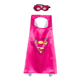 superman cape and mask set for girls,Rose,double layer
