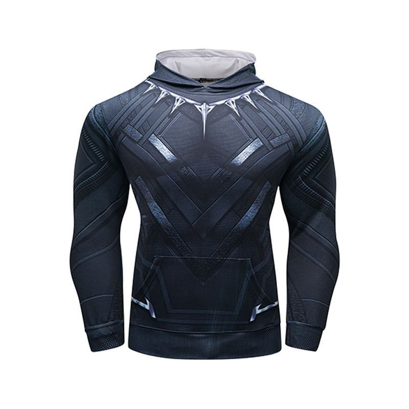 Fashion Design Pull Over Hoodie Black Panther Hooded T-Shirt