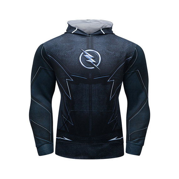 Superhero flash pullover hoodie cool long sleeve graphic sweatshirt