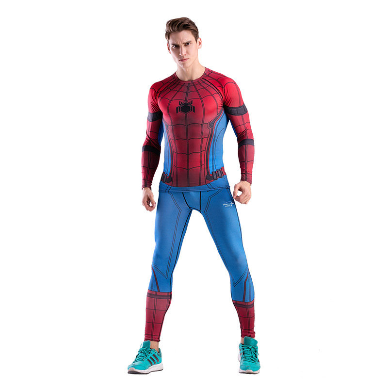Dri-fit Red Spiderman Compression Workouts Shirt Yoga Pant