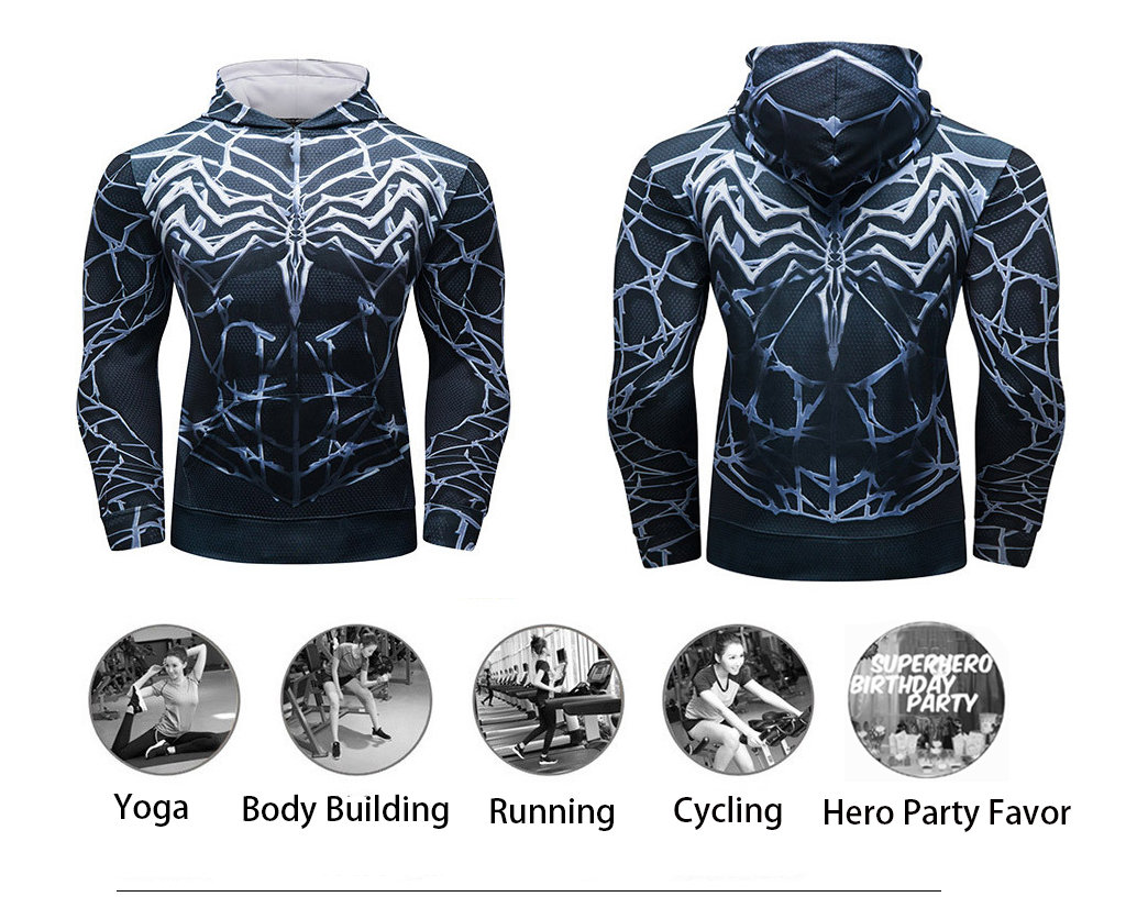 spider man hoodie sweatshirt long sleeve hooded t shirt