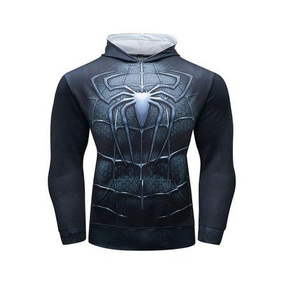 long sleeve spiderman hoodie costume hooded t shirt