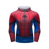cool spider man hoodie sweatshirt long sleeve hooded shirt cosplay costume Red