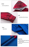 Fashion design long sleeve pull over spiderman hoodie Red
