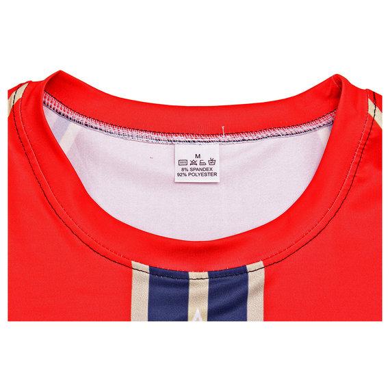 captain marvel shirt costume long sleeve superhero themed runing t shirt red