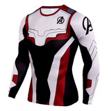 long sleeve quantum realm cosplay costume 3d print t shirts red black white